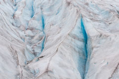 Cracks in glacier ice sheet Royalty Free Stock Photo