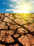 Cracks in a ground stock image