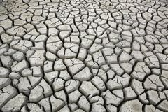 Cracks in ground during dry season drought Royalty Free Stock Image