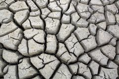 Cracks in ground during dry season drought. Cracks in ground during at waterhole during dry season drought Stock Photo