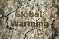 Cracks in the ground, global warming Stock Photography