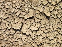 Cracks on the ground Stock Image