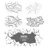 Cracks In The Ground Vector. 3D Illustration Isolated. On white royalty free illustration