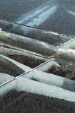 Cracks in ice Stock Photos