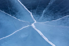 Cracks in the ice. Royalty Free Stock Photos