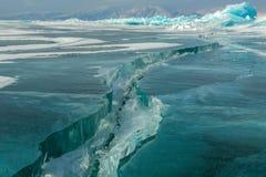 Cracks in the ice. Stock Photo