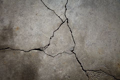 Cracked Cement Floor Stock Photography