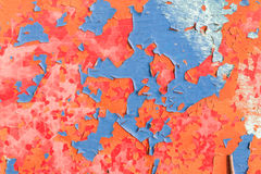 Cracks of old paint Stock Images
