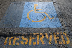 Handicapped Parking Cracked Royalty Free Stock Photos
