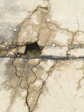 Cracks on the pavement Royalty Free Stock Photos