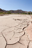 Cracks in the River Bed Royalty Free Stock Photo