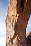 Cracks in rock arch Stock Images