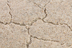 Cracks sand Royalty Free Stock Photos