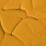 Cracks on sandy surface Royalty Free Stock Images