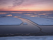 Cracks in a sea ice. Paldiski Stock Photo