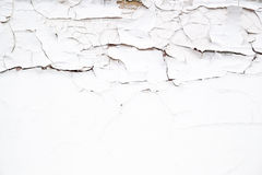 Cracks on the surface of the white old paint Royalty Free Stock Photography