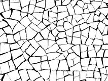 The cracks texture. White and black. Vector background Stock Photography