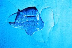 Cracks on the wall in funny shape. Royalty Free Stock Image