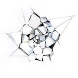Cracks. On white - 3d render Royalty Free Stock Photography