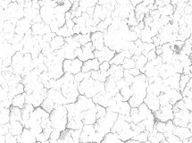 Cracks on white surface - vector background Royalty Free Stock Photos