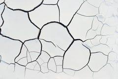 Cracks white texture earth Royalty Free Stock Photos