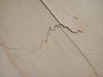Cracks on a wood. Stock Photos