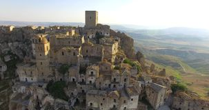 Craco Βασιλικάτα Ιταλία απόθεμα βίντεο