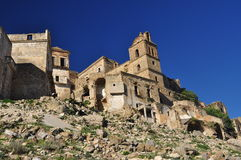 Craco abandonó el pueblo, Basilicata, Italia Imagenes de archivo