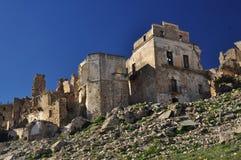Craco abandonó el pueblo, Basilicata, Italia Fotos de archivo libres de regalías