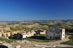 Craco abandoned village, Basilicata, Italy Royalty Free Stock Photos