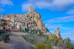 Craco, the ghost town stock photos