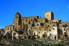 The ghost town of Craco stock images