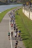 Cracovia皇家半马拉松2017年 免版税图库摄影