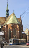 Cracovia - chiesa Franciscan - la Polonia fotografie stock