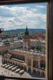 Cracovia Glowny, basilica del ` s di St Mary, Polonia Immagine Stock