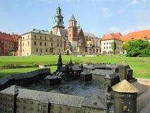 cracovia Il castello di Wawel Immagini Stock