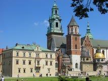 cracovia Il castello di Wawel Fotografia Stock Libera da Diritti