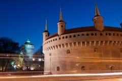 Cracovia - il migliore barbacane conservato in Europa Immagine Stock Libera da Diritti