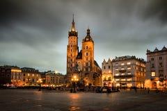 Cracovia (Kraków) en Polonia Imágenes de archivo libres de regalías