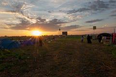 CRACOVIA, la POLONIA - 31 luglio 2016, giorno della gioventù del mondo ed il cattolico Immagine Stock Libera da Diritti