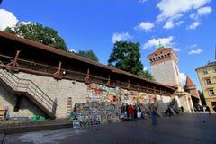 Cracovia magica, Polonia Città Vecchia Fotografia Stock Libera da Diritti