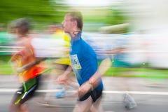 Cracovia Marathon. Runners on the city streets Royalty Free Stock Photo