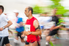 Cracovia Marathon. Runners on the city streets Stock Photography