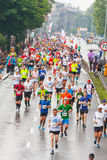 Cracovia Marathon. Runners on the city streets Stock Image