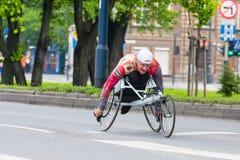 Cracovia Marathon. Runners on the city streets Stock Photos