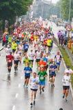 Cracovia Marathon. Runners on the city streets on May 18, 2014 in Krakow, POLAND Royalty Free Stock Photos
