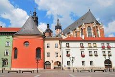 Cracovia. Piccolo quadrato del mercato Fotografie Stock Libere da Diritti