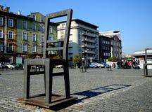 Cracovia, plaza de los héroes del ghetto Foto de archivo libre de regalías