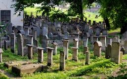 Cracovia, Polonia: Cimitero della sinagoga di Remu'h Fotografie Stock