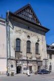 Cracovia, Polonia Distretto ebreo Kazimierz - vecchia alta sinagoga Fotografia Stock Libera da Diritti